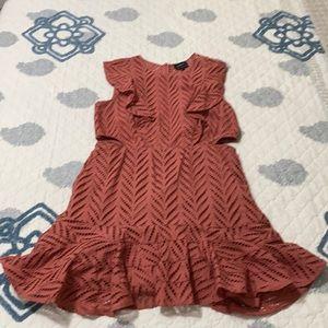 Bardot Dress Size 16- Terracotta